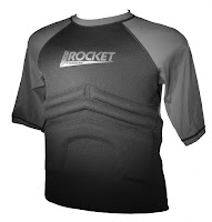The Rib Rocket Short Sleeve Lycra/Neoprene Black/Gray, Front