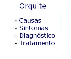 Orquite causas sintomas diagnóstico tratamento prevenção riscos complicações