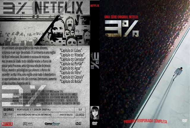 Capa DVD 3% Primeira Temporada Completa [Exclusiva]