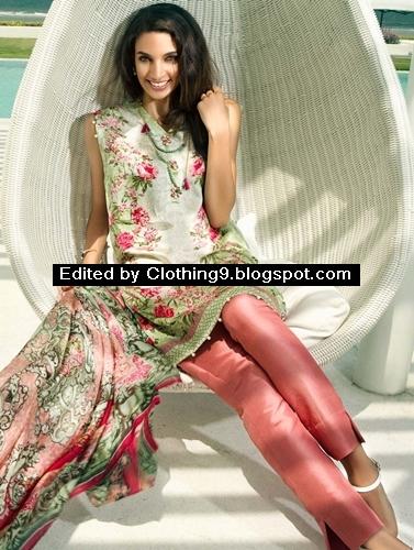 Zeen Silk Pret Dress Collection for Mid-Summer 2015