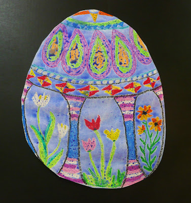 That artist woman easy easter art project for Easter crafts for elementary students