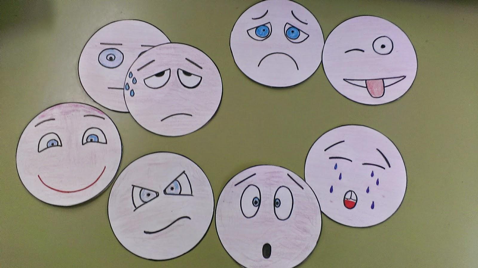 Para Niños De Dibujos Animados Caras Diferentes: Imágenes De Caras Con Diferentes Estados De ánimo