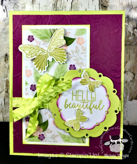 Card, Butterfly Gala, Butterfly Duet Punch, Spot of Tea Framelits Dies