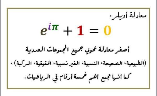 متطابقة أويلر هي أجمل معادلة في الرياضيات .. مالسر في ذلك ؟