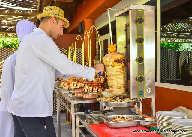 shawarma in Fujairah Rotana Buffet