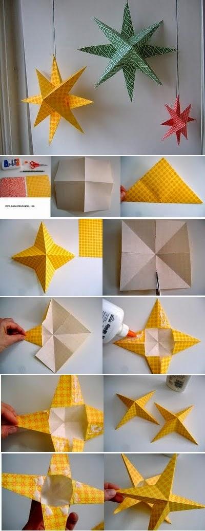 Tutorial origami stea
