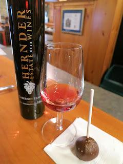 Hernder Cabernet Franc Icewine with Vanilla Bean Cake Pop