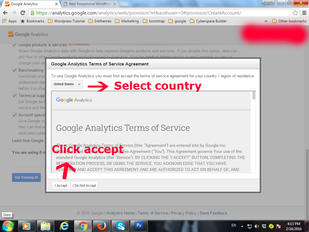 how to create google analytics id