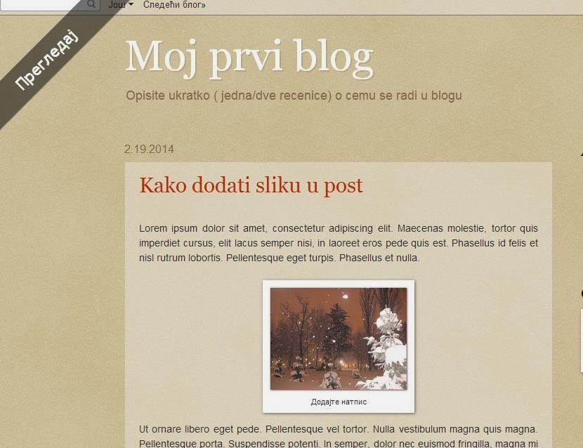 WEB notes: Kako dodati sliku u post?