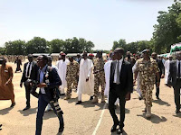 BUHARI ARRIVES MAIDUGURI