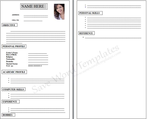 resume format slim image resume application form. blank resume ...