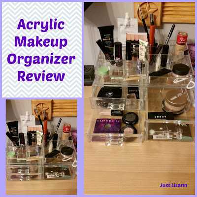Acrylic makeup organizer review