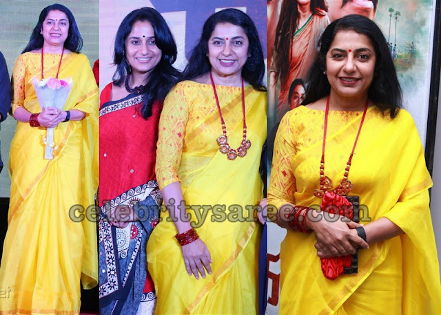 Suhasini Bright Yellow Saree