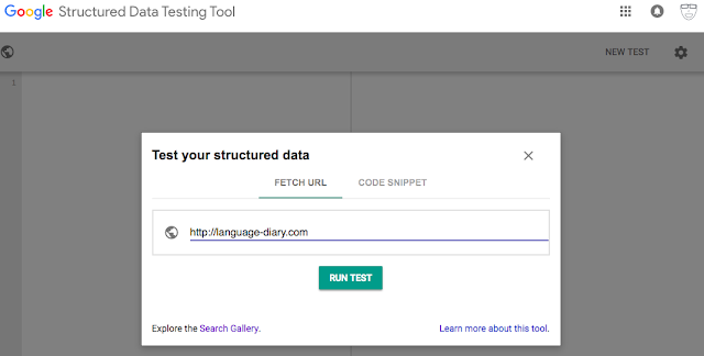 Google Structured-data Test