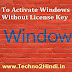 How to activate windows 10 without license key in hindi-Computer