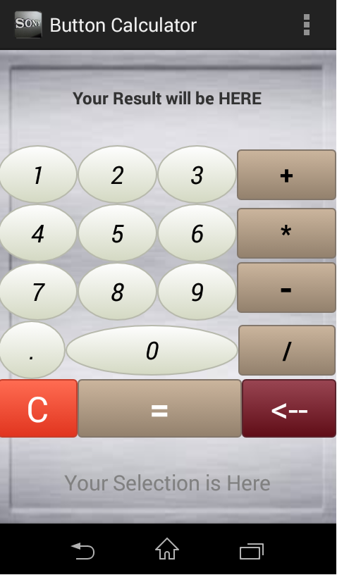 infoo code   how to make simple android calculator