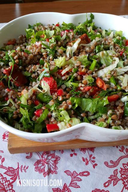 Greçka, Karabuğday nedir,  Faydaları nelerdir, Glutensiz tarifler, Çölyak, Kişniş otu, Karabuğday salatası, Salata tarifleri