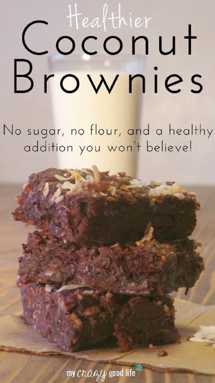 Healthier Coconut Brownies