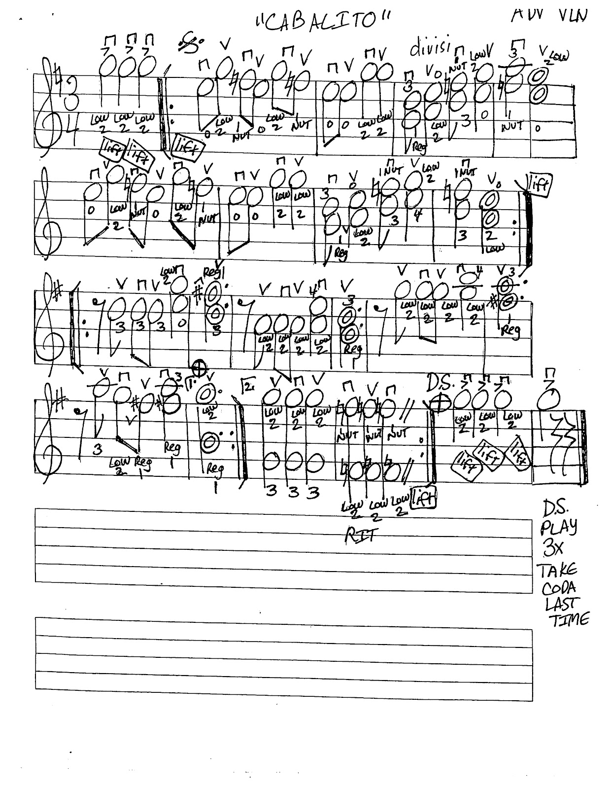 Miss Jacobson's Music: CABALITO MUSIC WORKSHEETS