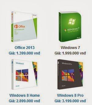 Giá cài win bản quyền  ở 1 website Việt Nam