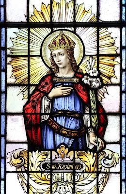 Imagem de São Casimiro, vitral, #1