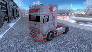 Gray Old School skin for Scania RJL
