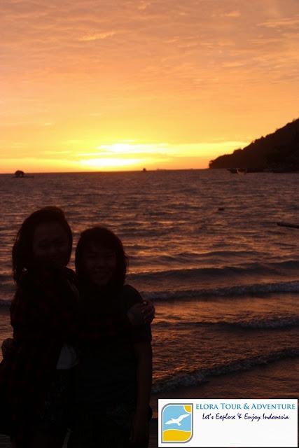 foto hunting sunset di pulau kiluan