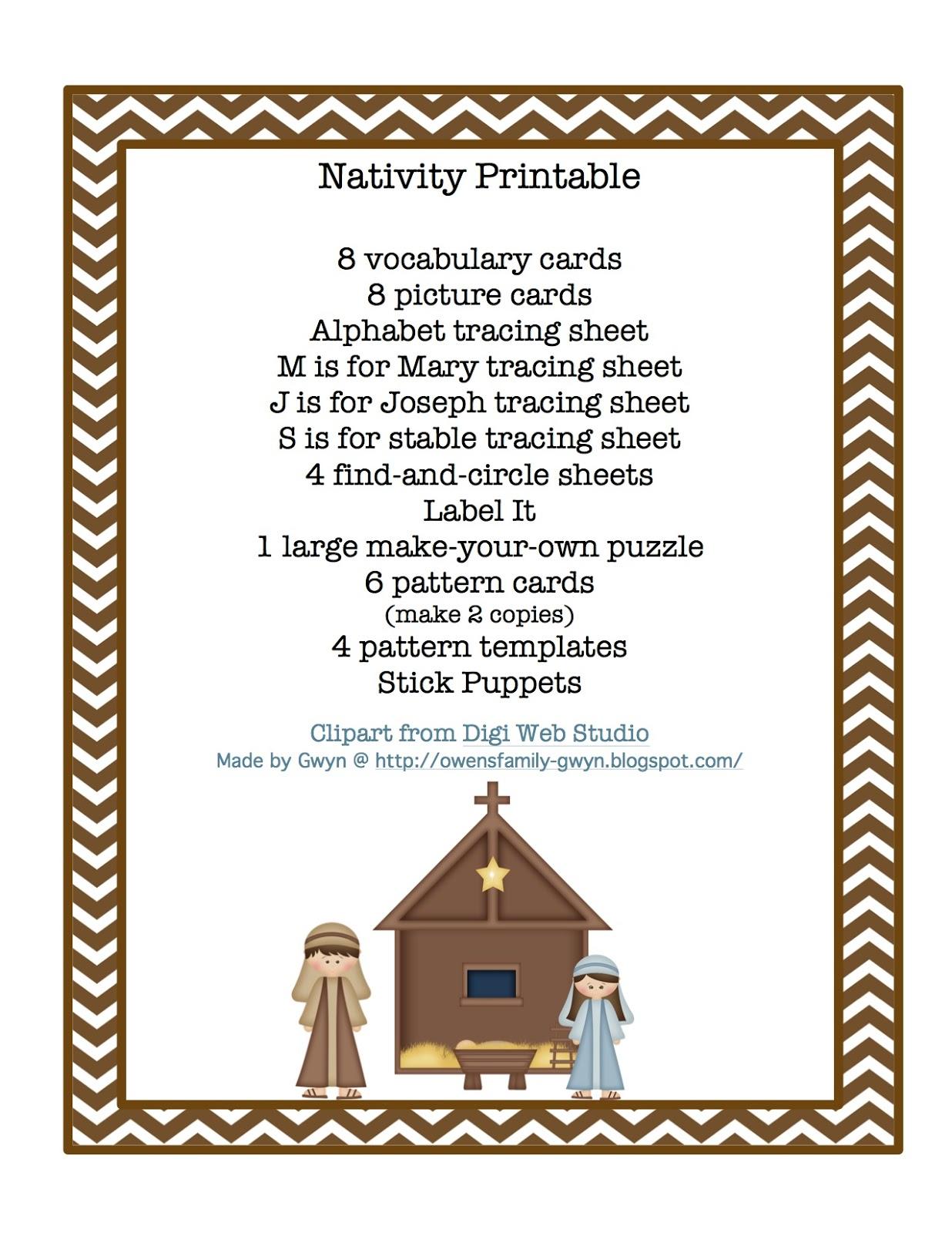 Nativity Printables