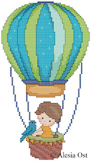 Free cross-stitch patterns, Hot Air Balloon, small boy, clipart, cross-stitch, back stitch, cross-stitch scheme, free pattern, x-stitchmagic.blogspot.it, вышивка крестиком, бесплатная схема, punto croce, schemi punto croce gratis, DMC, blocks, symbols, patrones punto de cruz, #crossstitch_pattern, #crossstitch