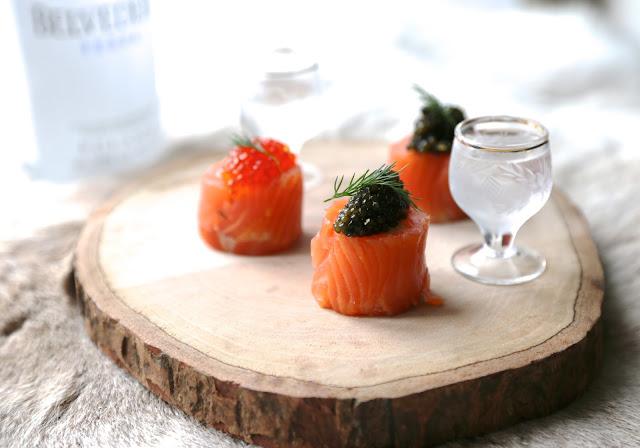 saumon , fumé , caviar , pomme de terre , reveillon