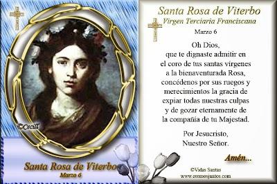 Resultado de imagen para santa rosa de viterbo virgen
