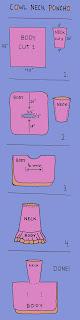 gráfico de poncho con cuello-capucha