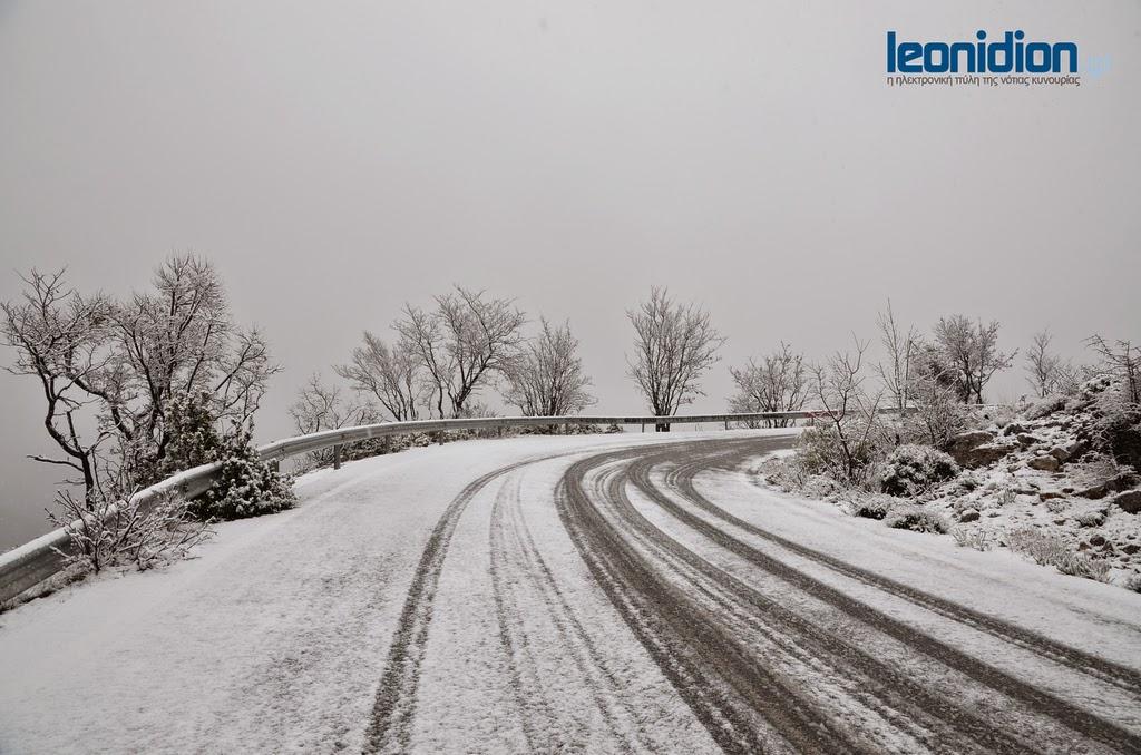 Τα πρώτα χιόνια στη Νότια Κυνουρία! (βίντεο+εικόνες) | Leonidion.gr