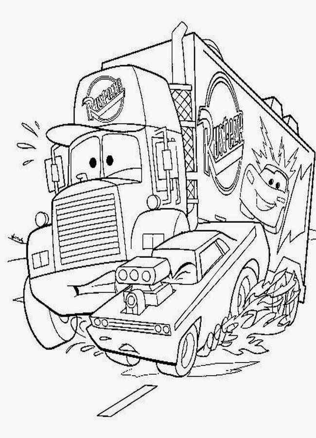 Disney Cars Coloring Pages - Disney Coloring Pages