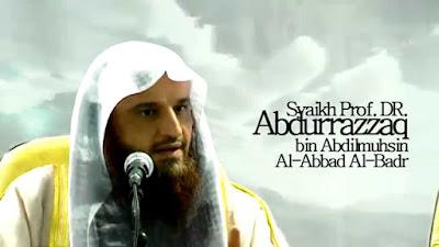 syaikh abdurrazzaq bin abdil muhsin