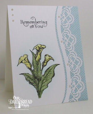 ODBD Loving Memories, ODBD Custom Leafy Edged Borders Dies, ODBD Christmas Paper Collection 2014, Card Designer Angie Crockett