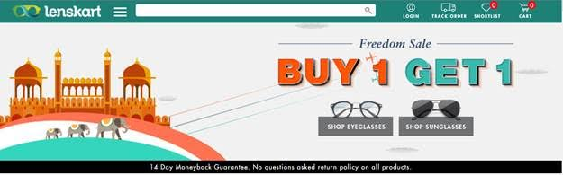 Lenskart.com announces an exciting 'Buy one, Get one' offer this Independence Day