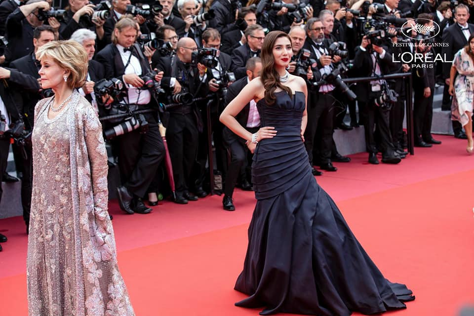 Mahira Khan arrives at the Red Carpet of the 71st Cannes Film Festival being held in Cannes, France