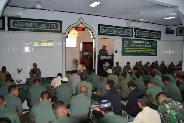 Lewat Isra Mi'raj, Personel dan PNS Korem 141/Tp Permantap Imtaq Berjiwa Kesatria, Militan dan Loyal