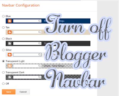 Menghapus Navbar Bloger