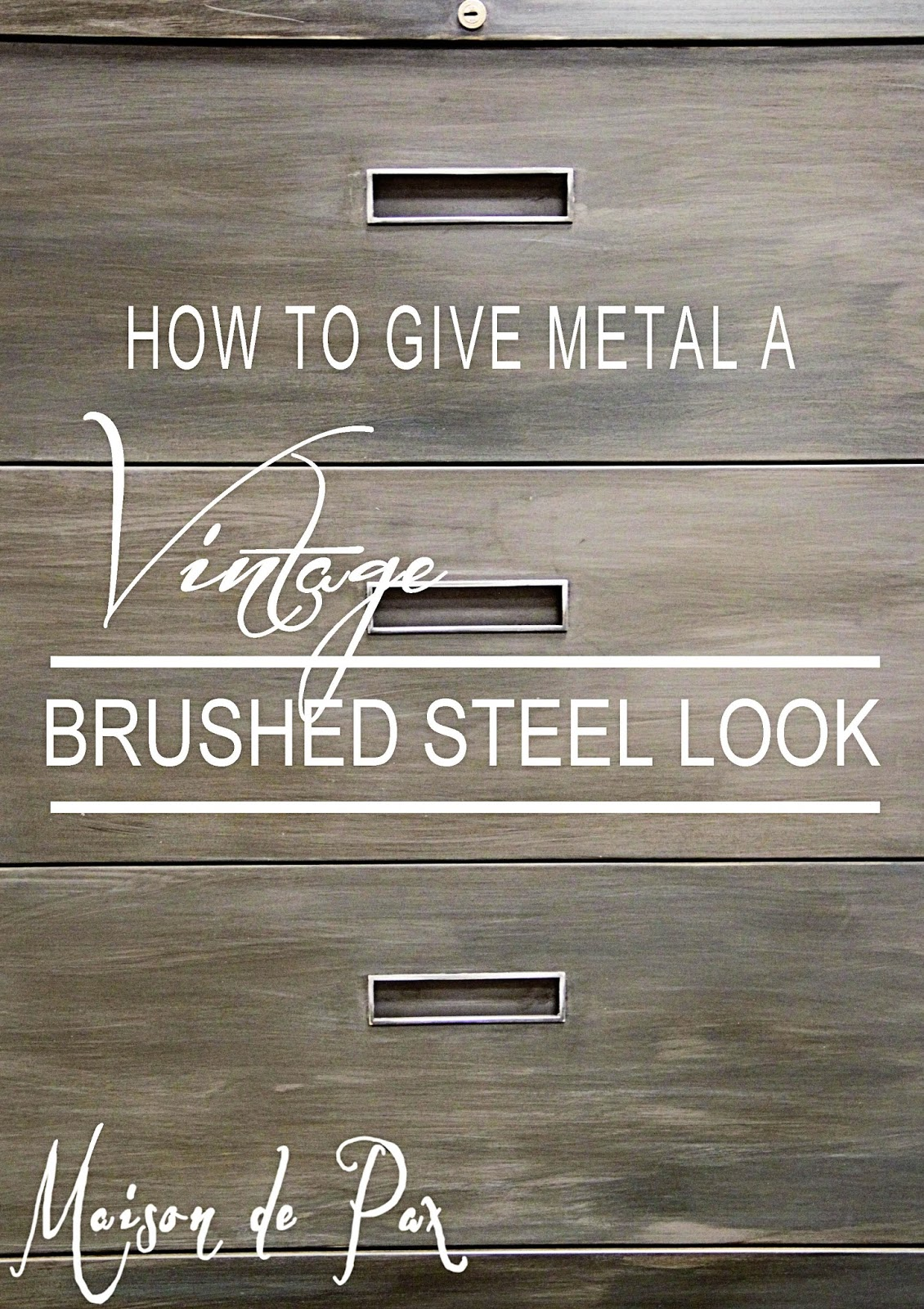 Earlier This Week I Shared How To Give Metal A Rich Vintage Patina Today Want Share Variation Of That Technique Uses The Same Materials But