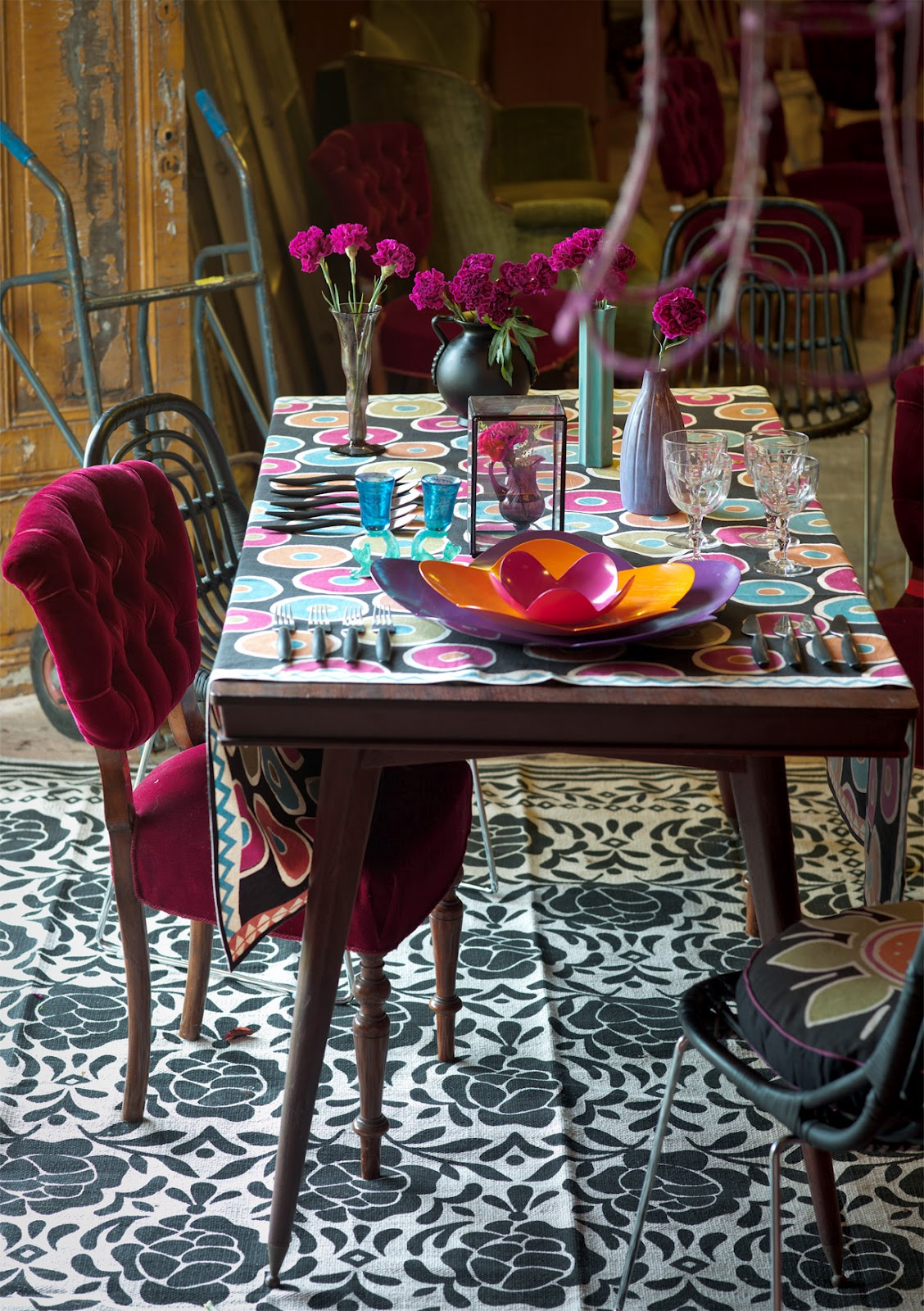 Bohemian Style Dining Rooms: GODRUN SJODEN IN THE UK