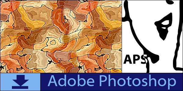 Abstract Seamless Tiling Patterns for Adobe Photoshop