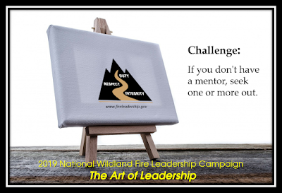 easel and Wildland Fire Leadership Development Program logo - If you don't have a mentor, see one or more out.