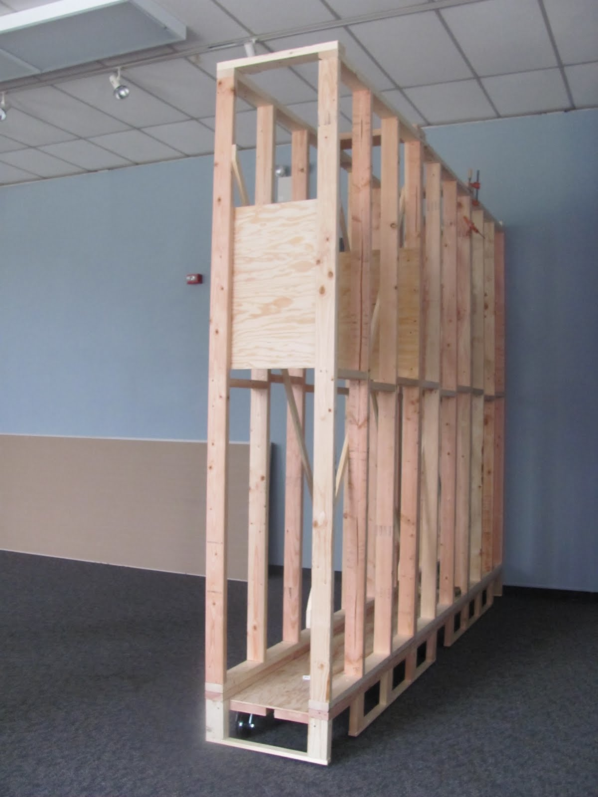 Movable Wooden Partition Philadelphia Sculpture Gym Who The Heck Are We