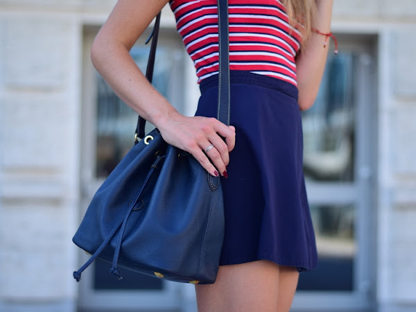 |OUTFIT| Blue tennis skirt