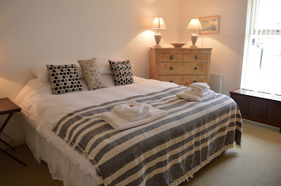 Waterside view cottage bedroom, Alnmouth, North East Family Fun Review