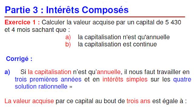 Mathématiques financières Exercices Corrigés