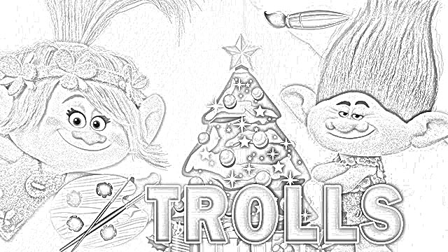 The Holiday Site: DreamWorks Trolls Christmas Coloring Pages Free And  Downloadable