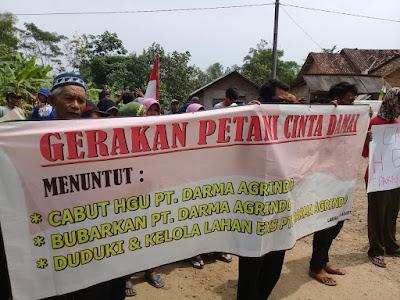 Izin HGU Habis, Petani dan Mahasiswa Tuntut PT. Darma Agrindo Berhenti Beroperasi